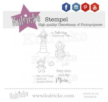 "Stempel-Set ""Keep Calm and say Moin"""