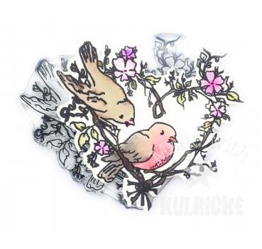 """Vogel Love"" Stempel"