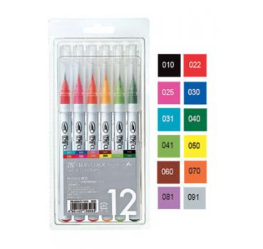 Kuretake - ZIG Clean Color Real Brush  - 12 pcs set