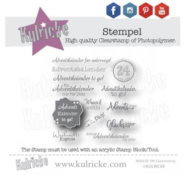"""Adventskalender to Go"" Stempel Set"