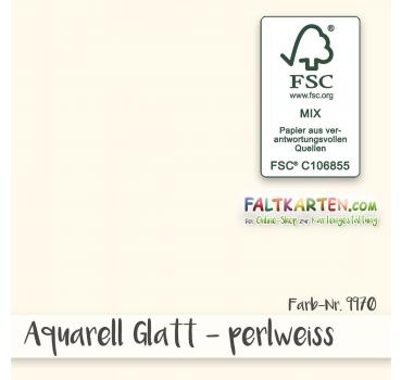Aquarellpapier glatt 270g/m² DIN A4 in perlweiss