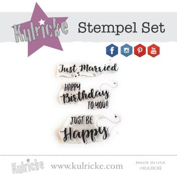 Be Happy Stempel Set