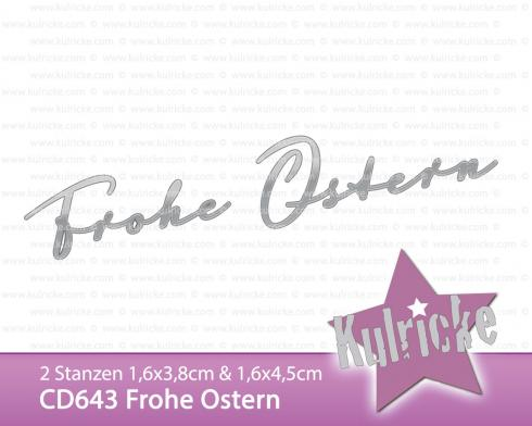 """Frohe Ostern"" Stanze - Craft Die"