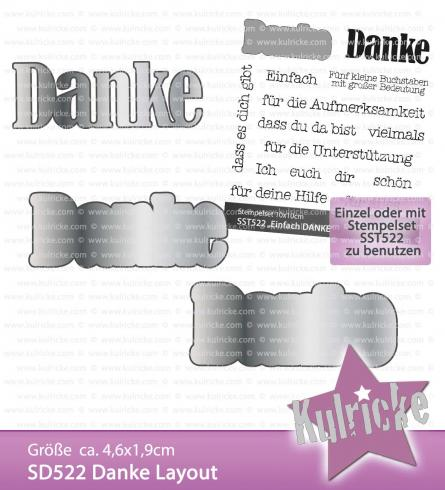 """Danke Layout"" Stanze - Craft Die"