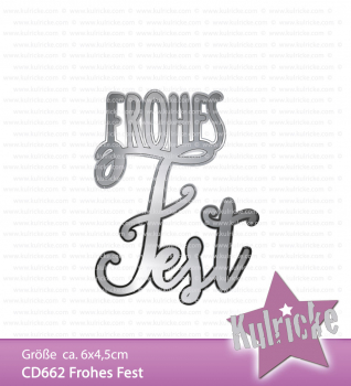 """Frohes Fest"" Stanze - Craft Die"