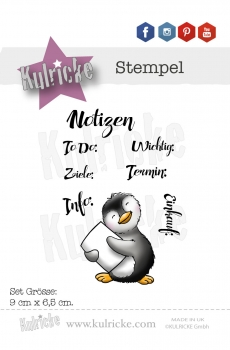 """Felix Notizen"" - Stempel Set"