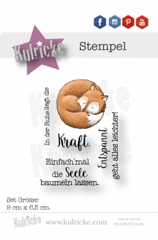 """Fox 2"" - Stempel Set"