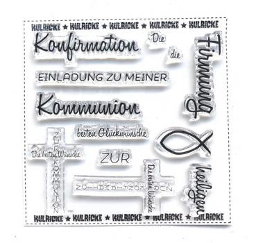 Kommunuion/Konfirmation Stempel Set