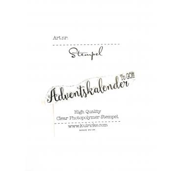 """Adventskalender to go""  2 Stempel"