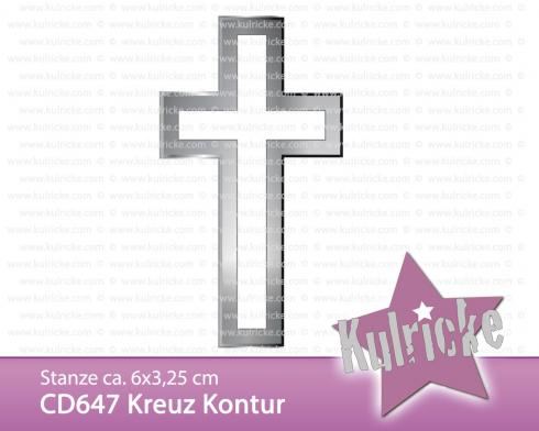 """Kreuz Kontur"" Stanze - Craft Die"