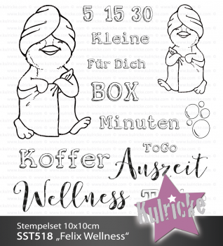 "Stempelset ""Felix Wellness"" Clear Stamp"
