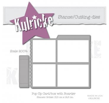 """Pop Up Card/Box mit Boarder"" Stanze"