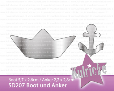 """Boot Anker"" Stanze - Craft Die"