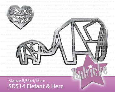 """Elefant & Herz"" Stanze - Craft Die"