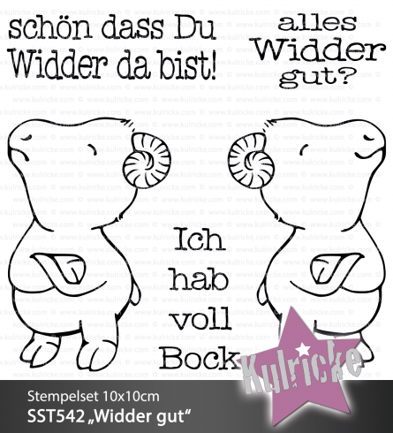 "Stempelset ""Widder DA"" Clear Stamp"
