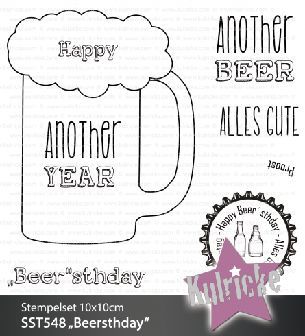 "Stempelset ""Beersthday"" Clear Stamp"