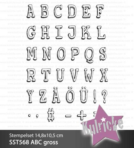 "Stempelset ""ABC groß"" Clear Stamp"