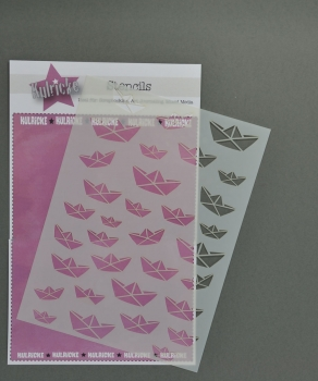 "Stencil - Schablone ""Faltboot - Papierboot"" A5"