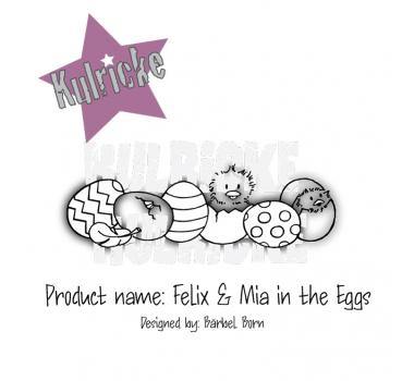 Felix& Mia in the Eggs Stempel