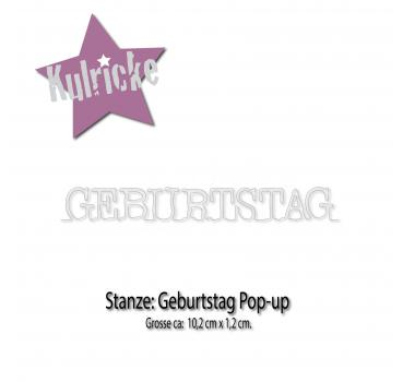 """Geburtstag "" Pop-up Stanze"