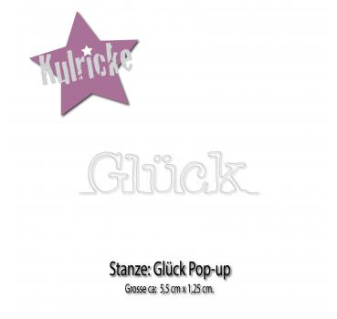Glück Pop-up Stanze