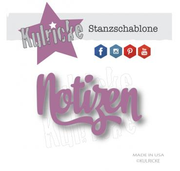 """Notizen"" XL Stanze"
