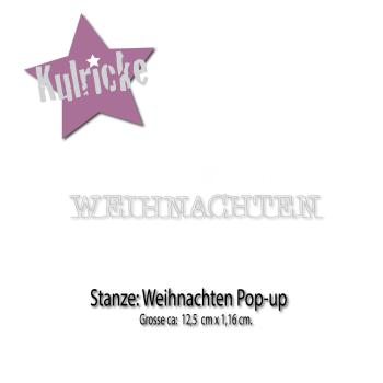 """Weihnachten"" Pop-up Stanze"