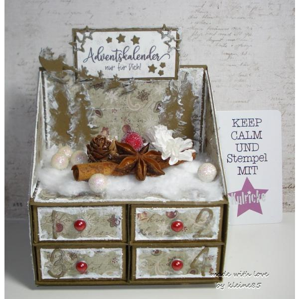 Adventskalender Stempel Set
